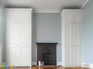 Two Victorian Style Alcove Fitted Wardrobes