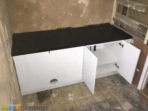 Vanity unit made from moisture resistant MDF