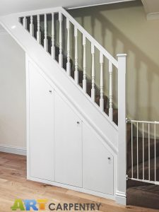 Under stairs cupboard with shoeracks