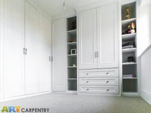 L-shape wardrobe with shaker style doors