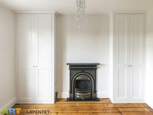 Alcove Fitted Wardrobes besides the Chimney