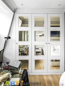 Sloping Wall and Mirrored Doors Wardrobe