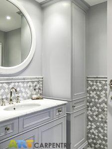 Vanity units - sink cabinet and bathroom wardrobe.