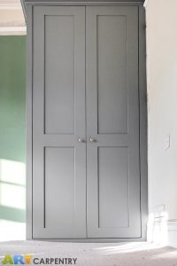 Two alcove fitted wardrobes