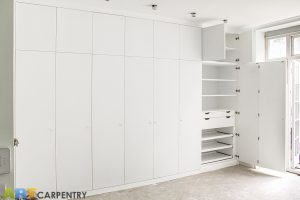 Bi-folded Doors Huge Contemporary Style Fitted Wardrobe